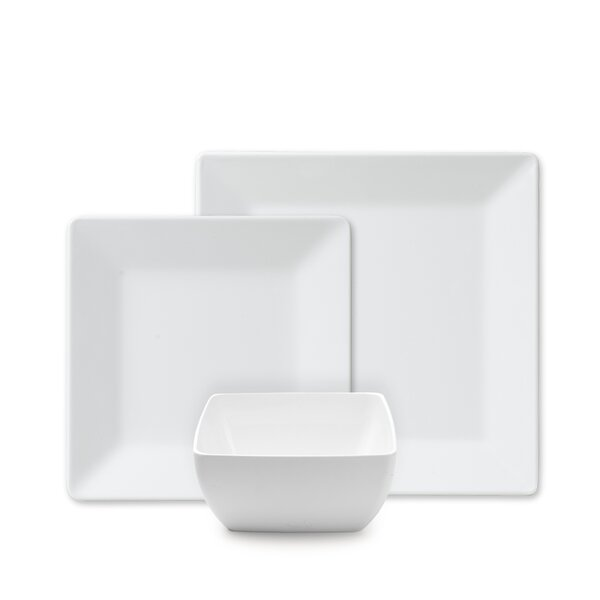 Kogut Square 12 Piece Dinnerware Set Service for 4 by Latitude Run