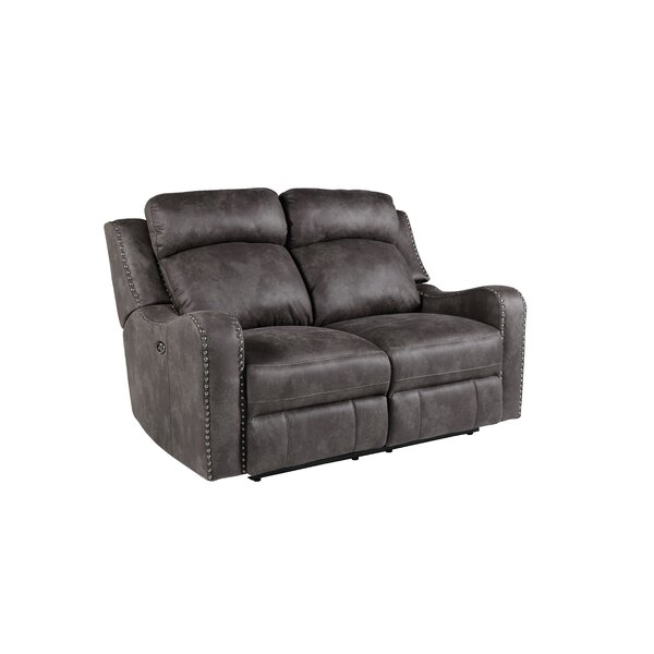 Candida Contemporary Reclining Loveseat by Williston Forge