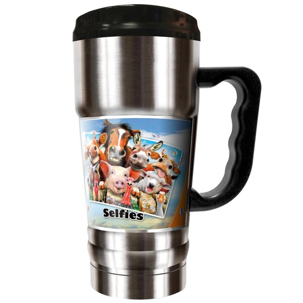 Farm Selfies 20 oz. Stainless Steel Travel Tumbler by Great American Products
