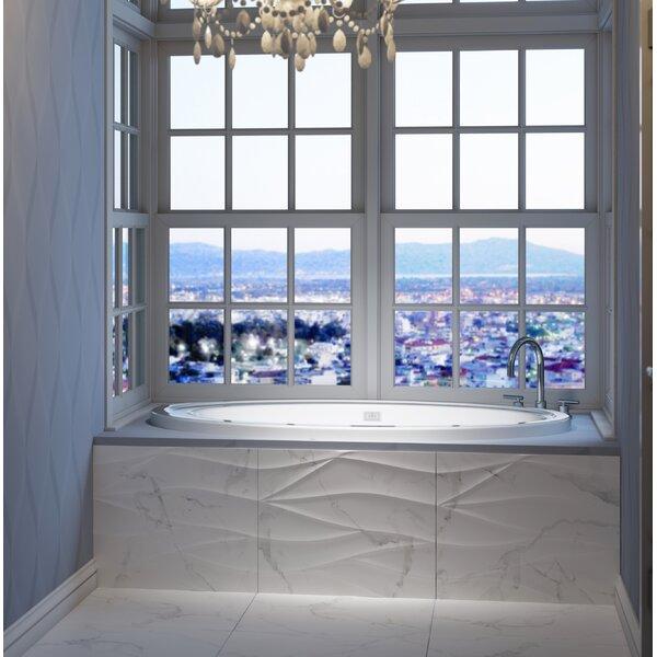 Riva Right-Hand Heater 72 L x 42 W Drop In Whirlpool Bathtub by Jacuzzi®