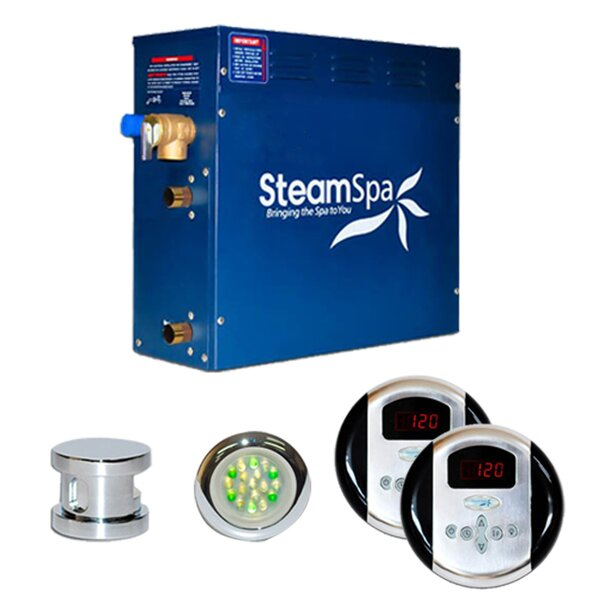 SteamSpa Royal 9 KW QuickStart Steam Bath Generator Package by Steam Spa