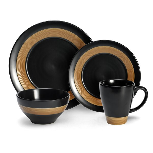Everyday Concentric 16 Piece Dinnerware Set, Service for 4 by Pfaltzgraff Everyday