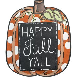 Happy Fall Y'all Pumpkin Painting Print by Glory Haus