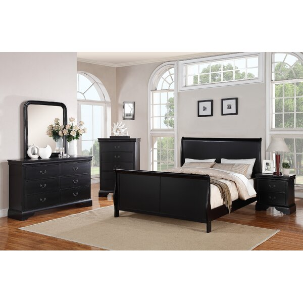 Bois Sleigh Configurable Bedroom Set by Charlton Home