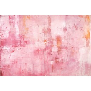 Pink Mirrors Painting Print on Wrapped Canvas by East Urban Home