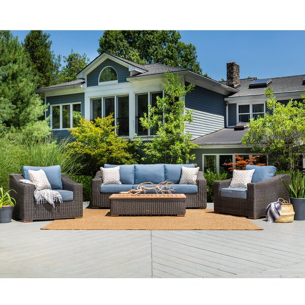 New Boston 4 Piece Sunbrella Sofa Seating Group with Cushions by La-Z-Boy