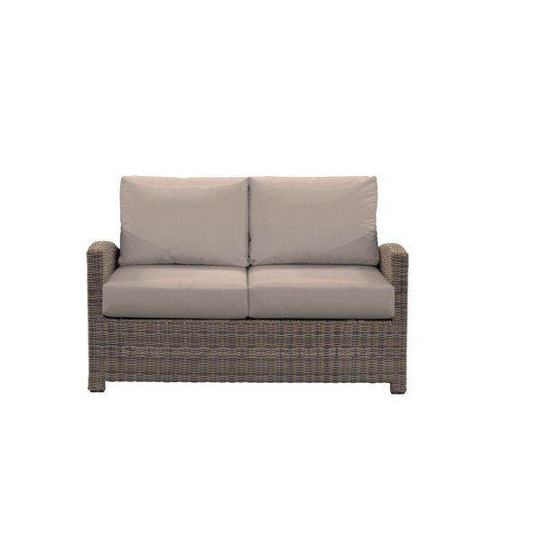 Demetra Loveseat with Sunbrella Cushions by Highland Dunes