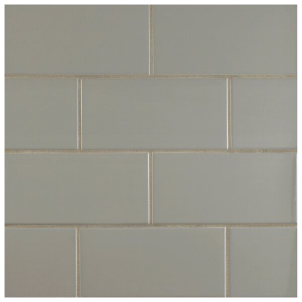 Prospect 3 x 6 Ceramic Subway Tile in Gray by EliteTile
