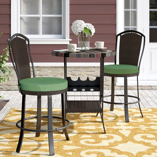 Stoneham 3 Piece Bar Height Dining Set by Alcott Hill
