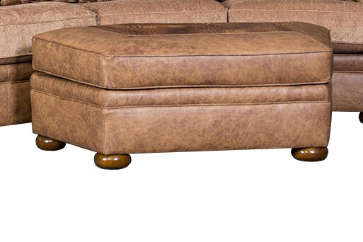 Cheap Price Bedingfield Leather Cocktail Ottoman