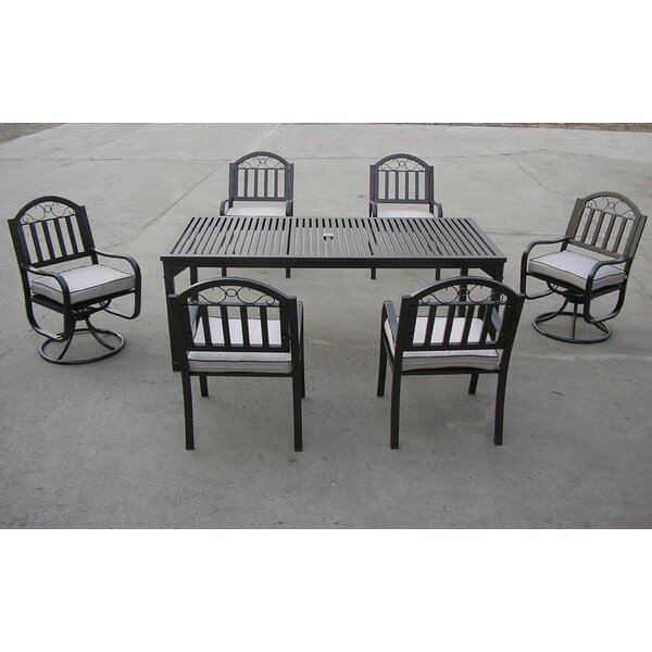 Rochester 7 Piece Dining Set with Cushions by Oakland Living