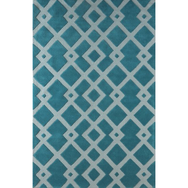 Glenside Hand-Tufted Blue Area Rug by Mercer41