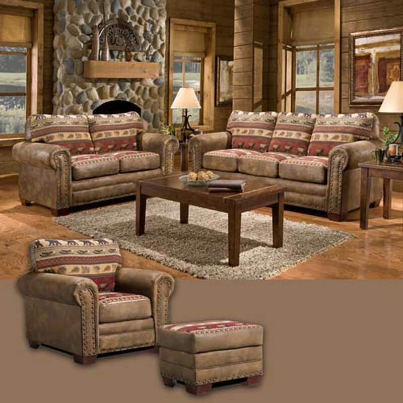 American Furniture Classics Sierra Lodge 4 Piece Living Room Set