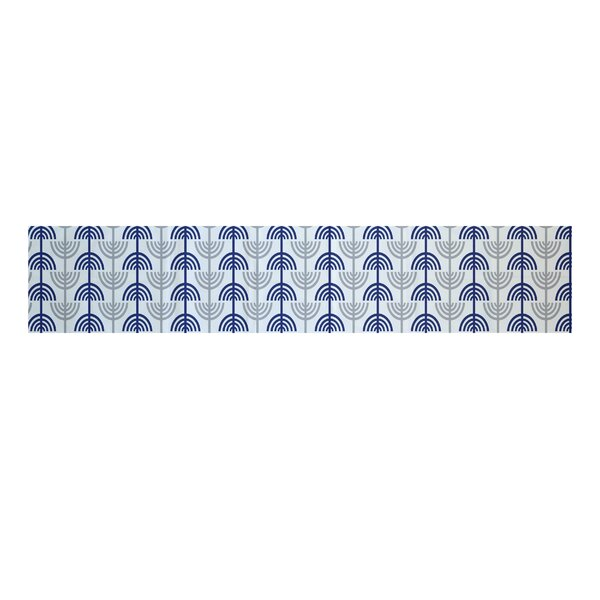 Menorah Abstract Decorative Holiday Table Runner by The Holiday Aisle