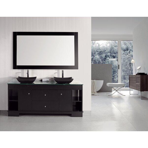 Penton 60 Double Bathroom Vanity Set with Mirror by dCOR design