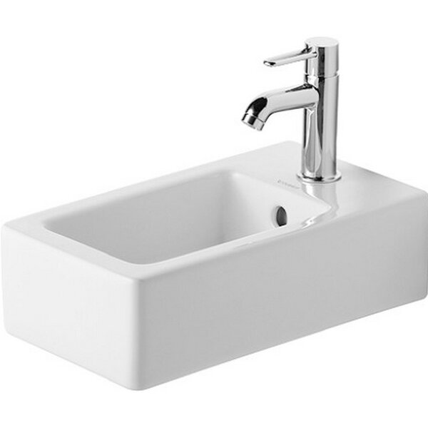 Vero Ceramic 10 Wall Mount Bathroom Sink with Overflow by Duravit