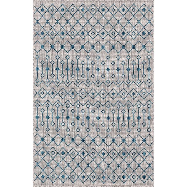 Kailani Blue/Gray Indoor/Outdoor Area Rug by Gracie Oaks