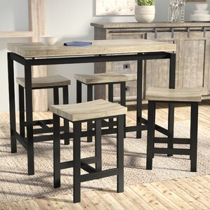 Charming Bourges 5 Piece Pub Table Set