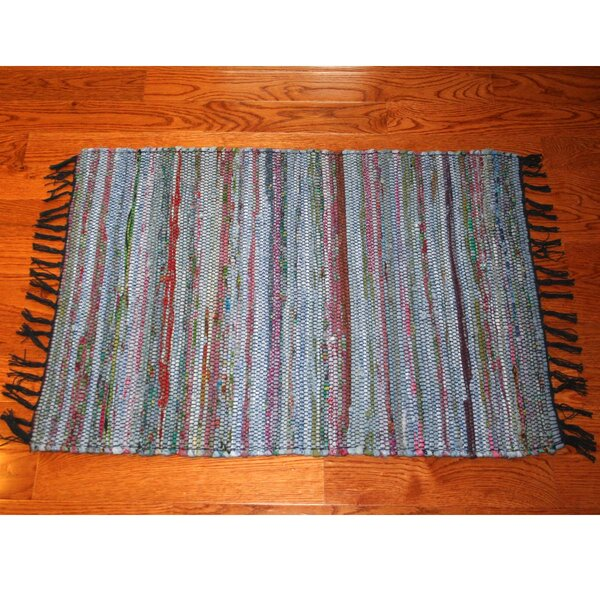 One-of-a-Kind Linmore Over-Dyed Hand-Woven Navy Area Rug by Bay Isle Home