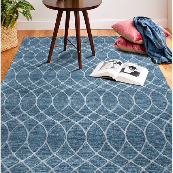 Yuliana Hand-Tufted Azure Area Rug by Breakwater Bay