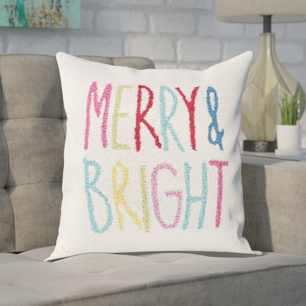 Donegan Merry & Bright Winter Throw Pillow by Ivy Bronx
