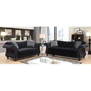 Dalia 3 Piece Living Room Set by House of Hampton®