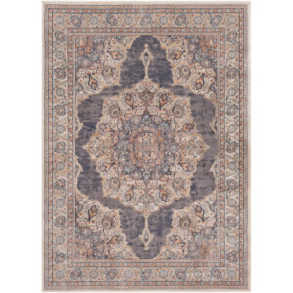 Eaker Taupe/Black Area Rug by Bungalow Rose
