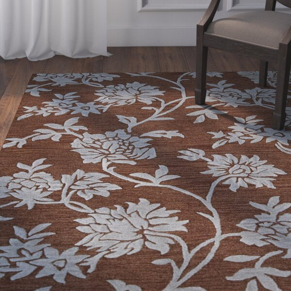Peterson Hand-Woven Chocolate Area Rug by Darby Home Co