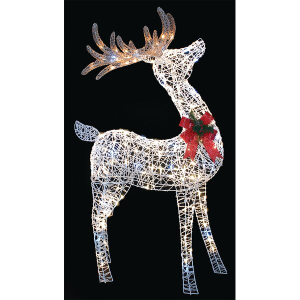 LED 3D Reindeer Oversized Figurine by The Holiday Aisle