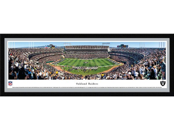 NFL Oakland Raiders by James Blakeway Framed Photographic Print by Blakeway Worldwide Panoramas, Inc