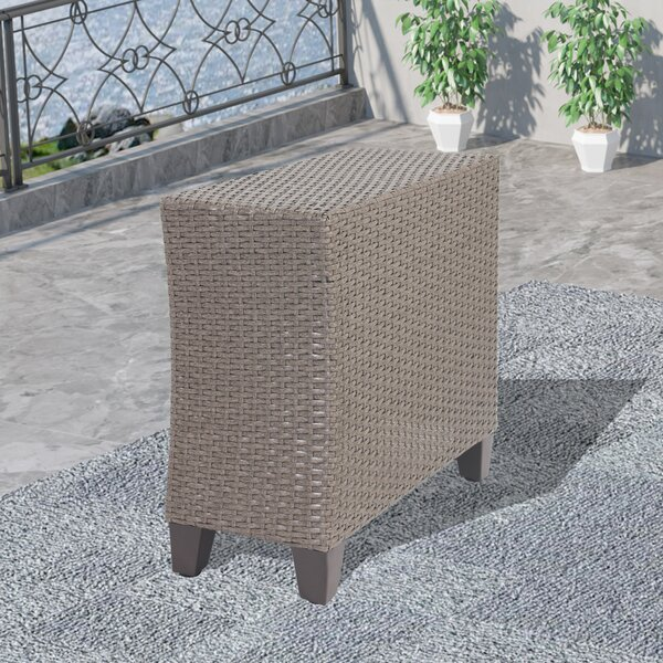 Riva Wicker Side Table by Highland Dunes