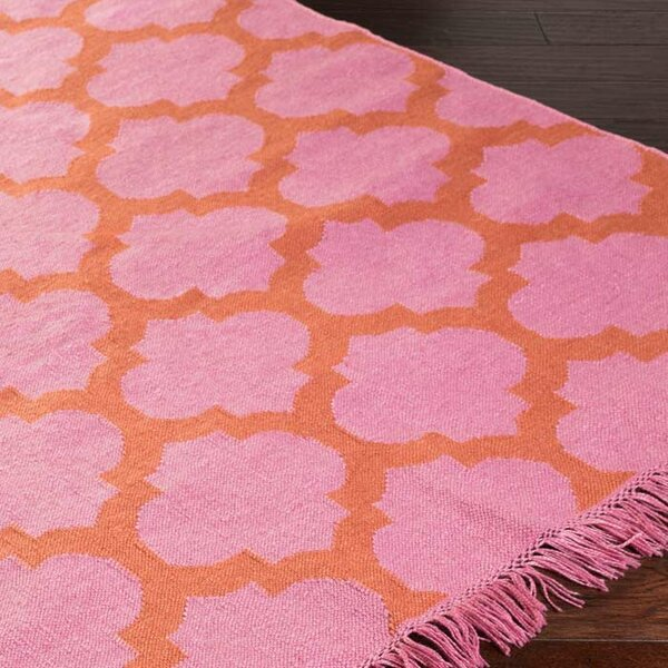 Derby Carnation/Rust Indoor/Outdoor Area Rug by Ivy Bronx