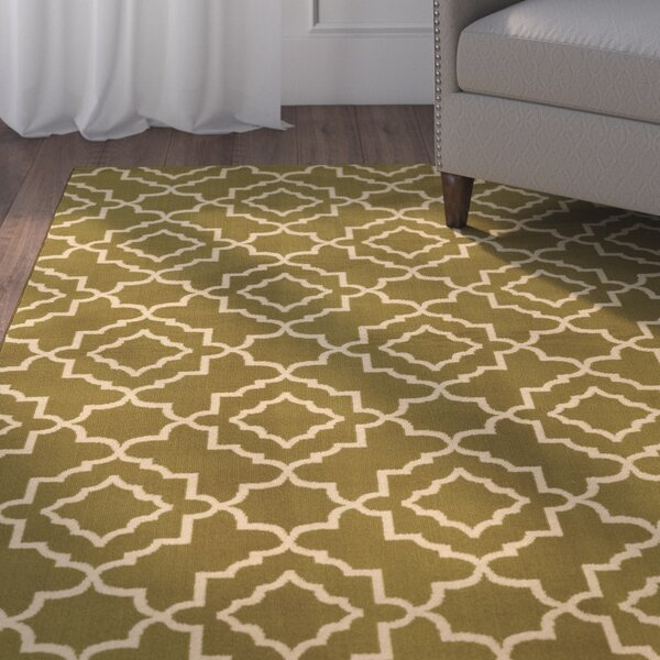 Delshire Green/Beige Area Rug by Charlton Home