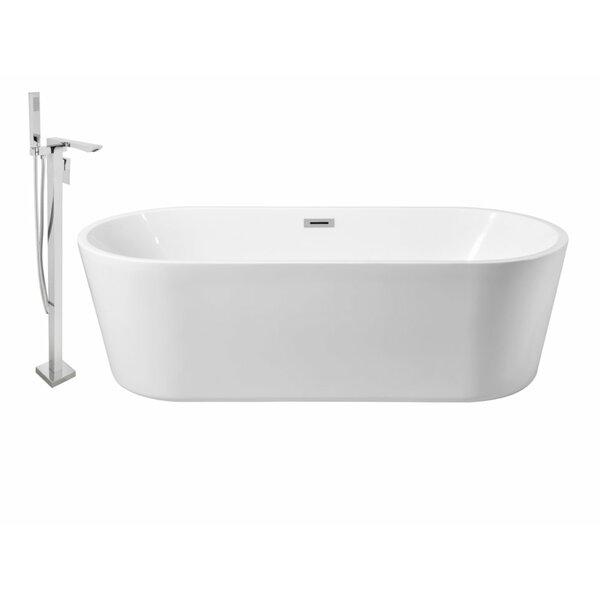 59 x 28 Freestanding Soaking Bathtub by Wildon Home ®
