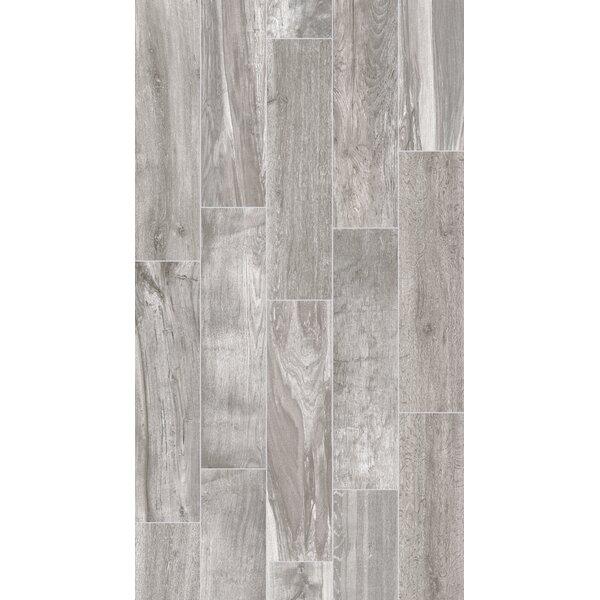 Shuffle 6 x 24 Porcelain Wood Tile in Ash by Parvatile