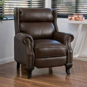 Andress Manual Recliner : brown leather recliner chair - islam-shia.org