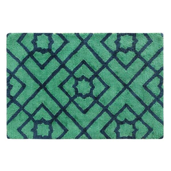 Diamond Lattice Hand-Tufted Green/Blue Area Rug by CompanyC