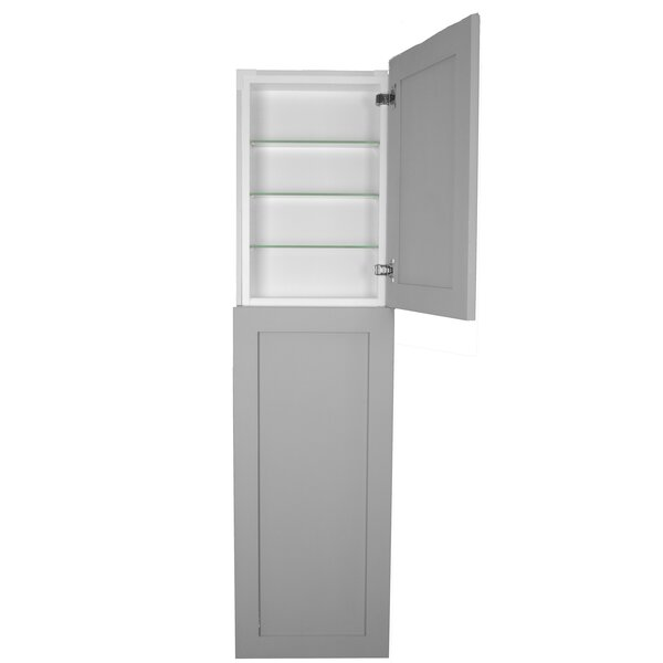 15.5 W x 71 H Recessed Cabinet by WG Wood Products