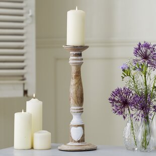 no spike Parlane Mango Wood Candle Holder Candlestick 20cm for Pillar Candle