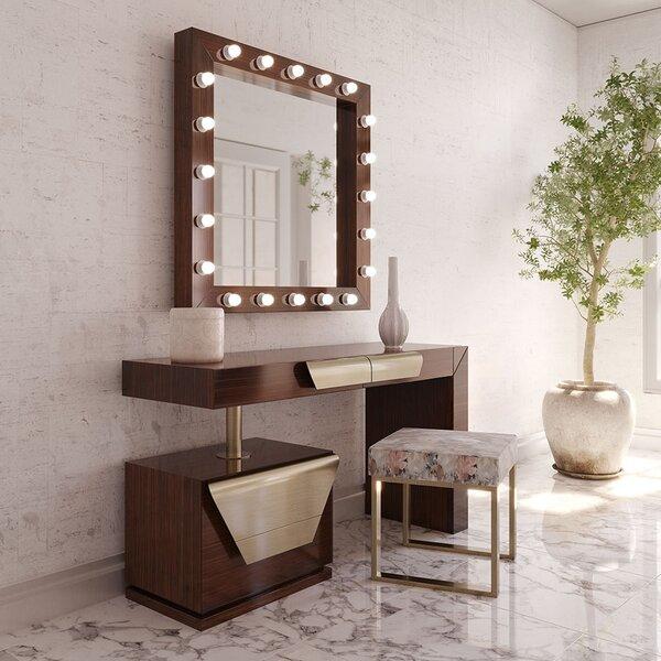Lovins Vanity Set with Stool and Mirror