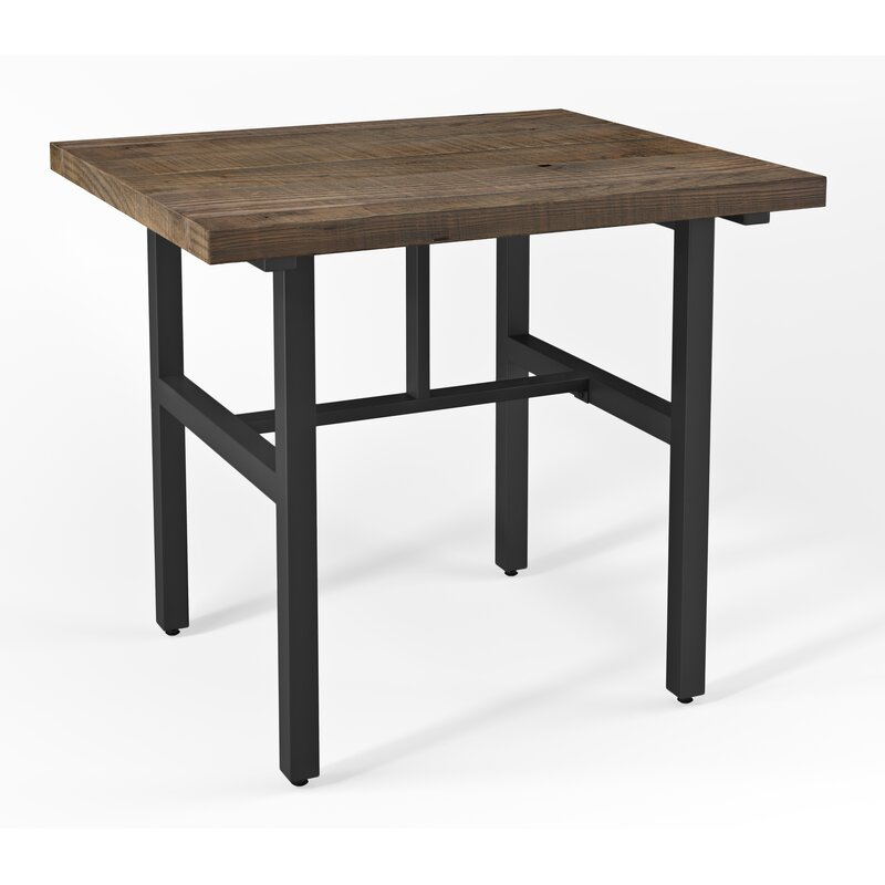 Loon Peak Somers Reclaimed Wood Counter Height Dining Table - Reclaimed hardwood dining table