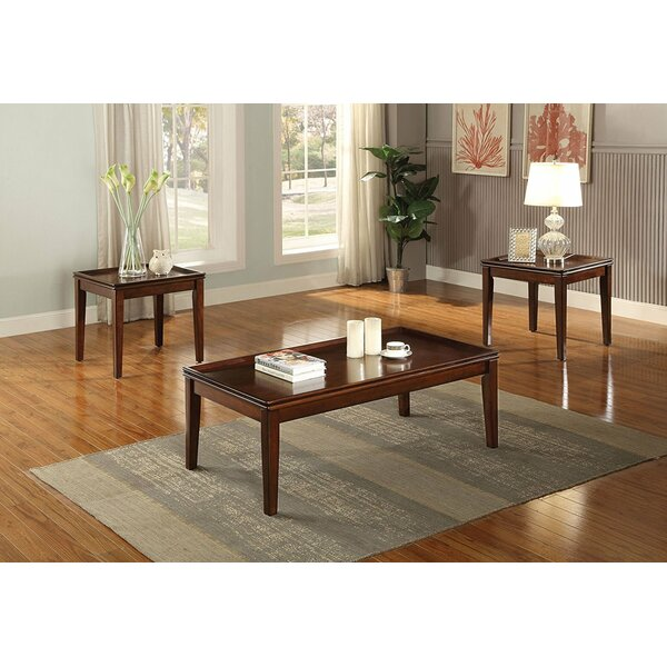 Sagunto Wooden 3 Piece Coffee Table Set by Canora Grey