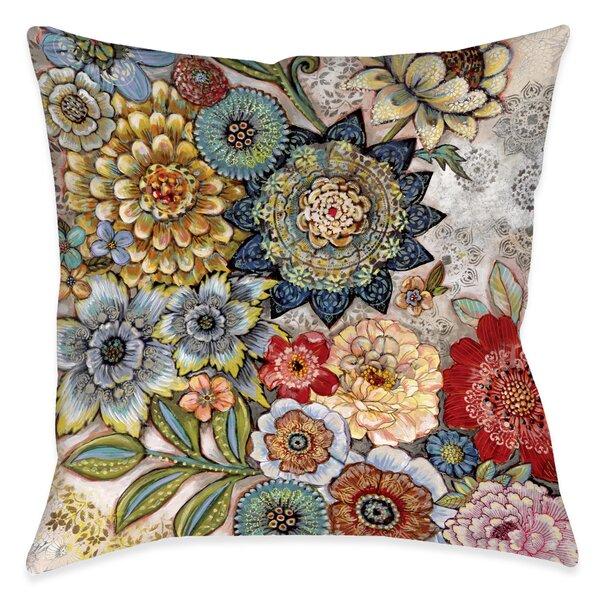 Haskell Boho Bouquet Indoor/Outdoor Throw Pillow
