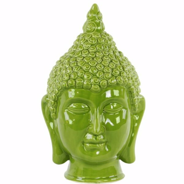 Greenberry Buddha Head with Pointed Ushnisha by World Menagerie