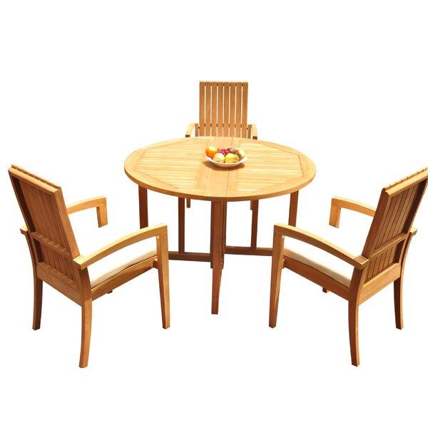Wilkerson 4 Piece Teak Dining Set Bayou Breeze W001959693