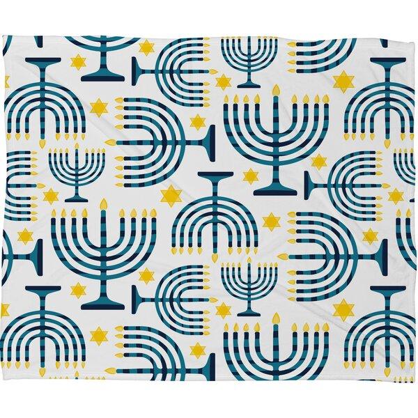 Zoe Wodarz Holiday Lights Plush Fleece Throw Blanket by Deny Designs