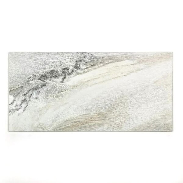Nature 8 x 16 Glass Wood Look Tile in Gray by Abolos