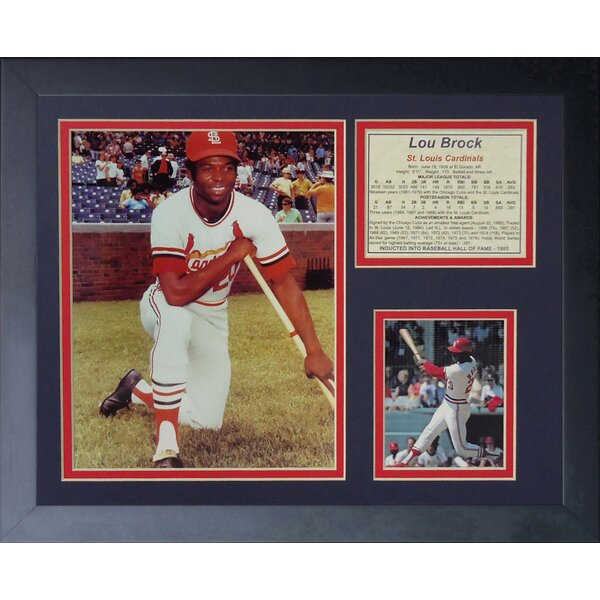 Lou Brock Portrait Framed Photographic Print by Legends Never Die