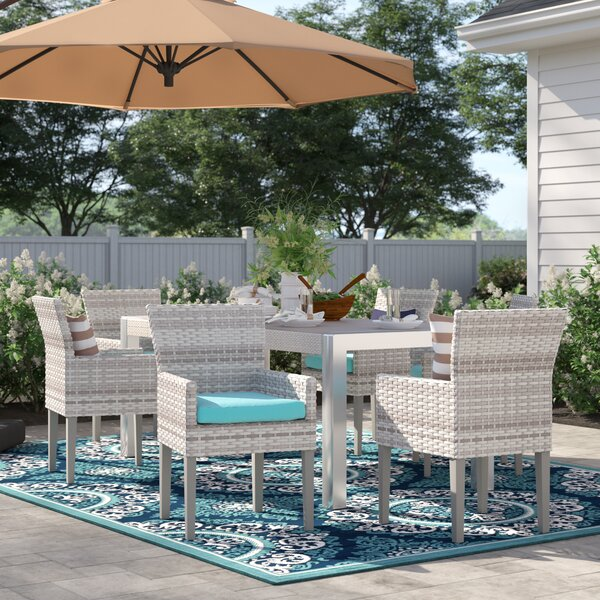 Falmouth Patio Dining Chair with Cushion (Set of 6) by Sol 72 Outdoor