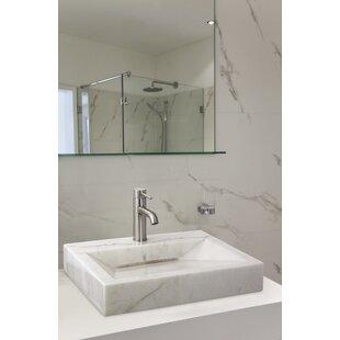 Savings Above Counter Bowl Stone Rectangular Vessel Bathroom Sink By Lenova